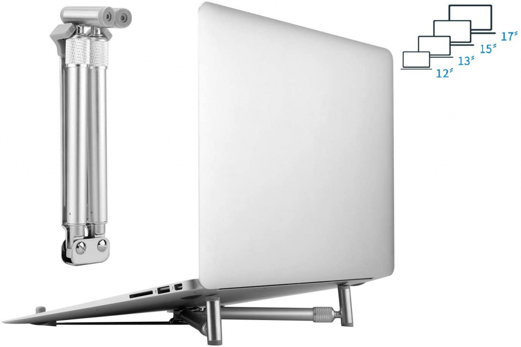Hp Elitebook 820 g1 Aluminium X-stand | inklapbaar | Laptop Stand | zilver | Hp