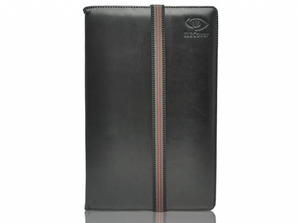 Luxe Hoes voor Hudl 7 inch tesco tablet   Echt lederen Cover   zwart   Hudl