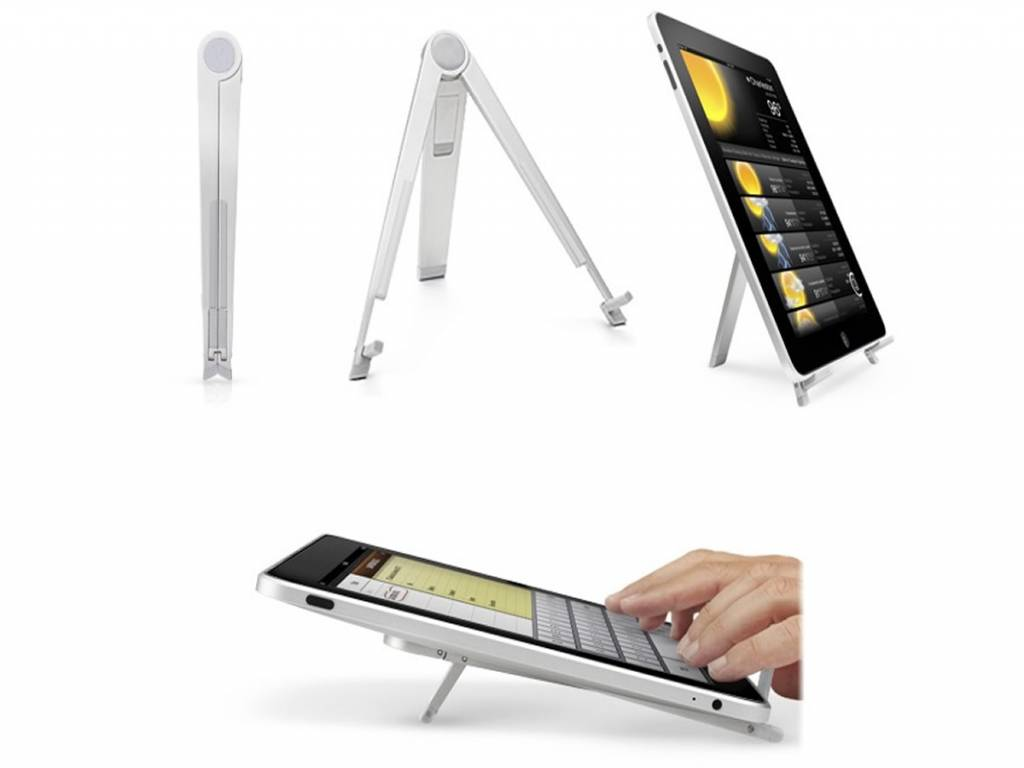 Tripod Standaard | Voor Aoc Breeze tablet g7 dc mw0731 | Uitklapbaar | grijs | Aoc