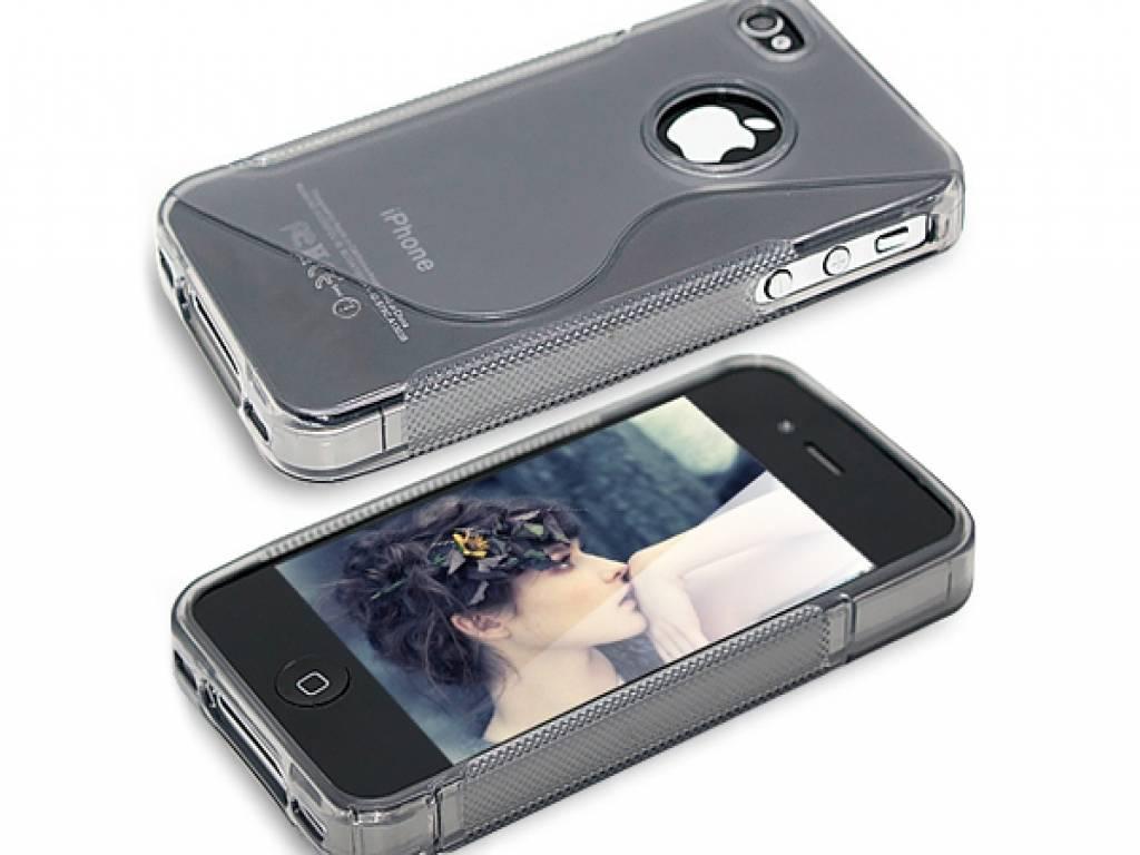 Apple Iphone 4 · Soft Skin Case · Siliconen Hoesje · Transparan   transparant   Apple
