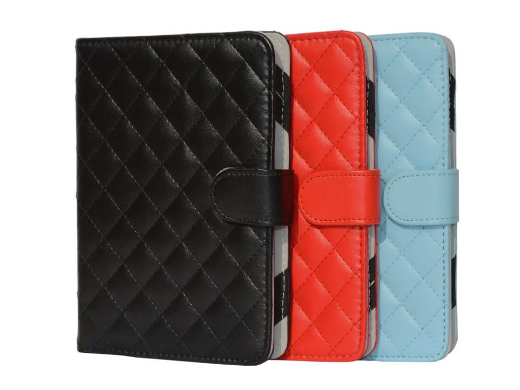Book Cover Pocketbook Touch lux 4 met ruitmotief | blauw | Pocketbook
