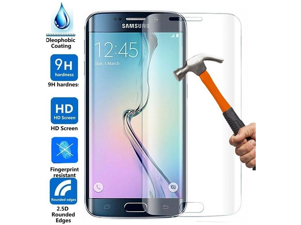 Curved 3D Tempered Glass Screen Protector Samsung Galaxy s7 edge | transparant | Samsung