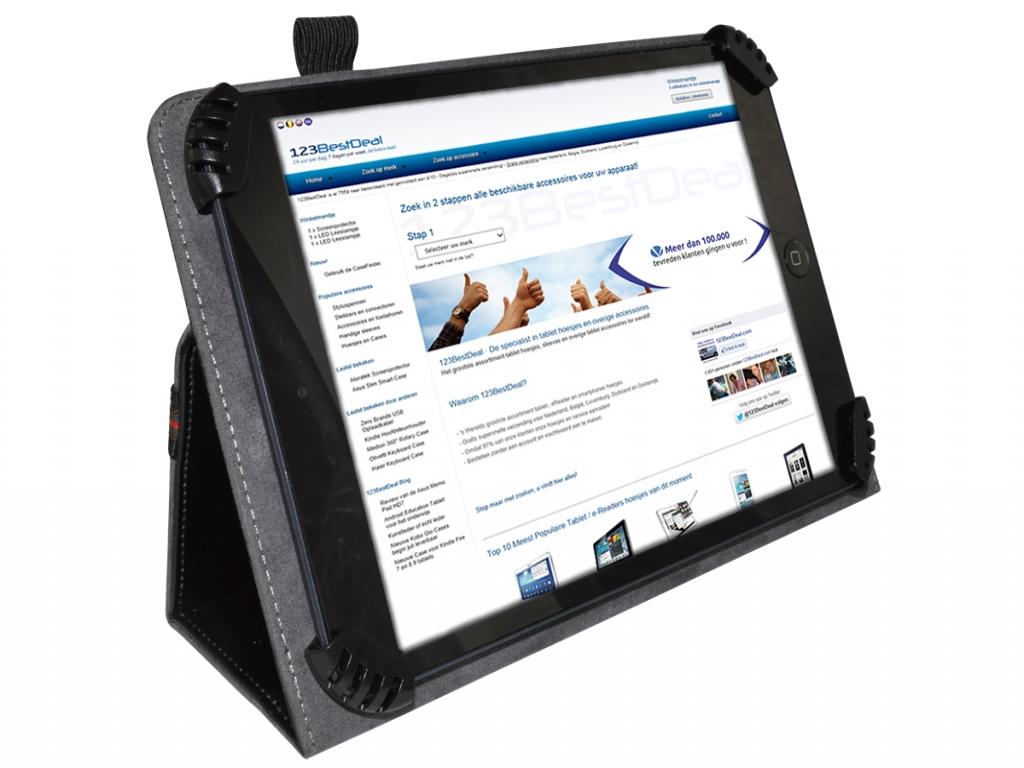 Universeel hoesje voor een 8 inch tablet  | zwart | Universeel