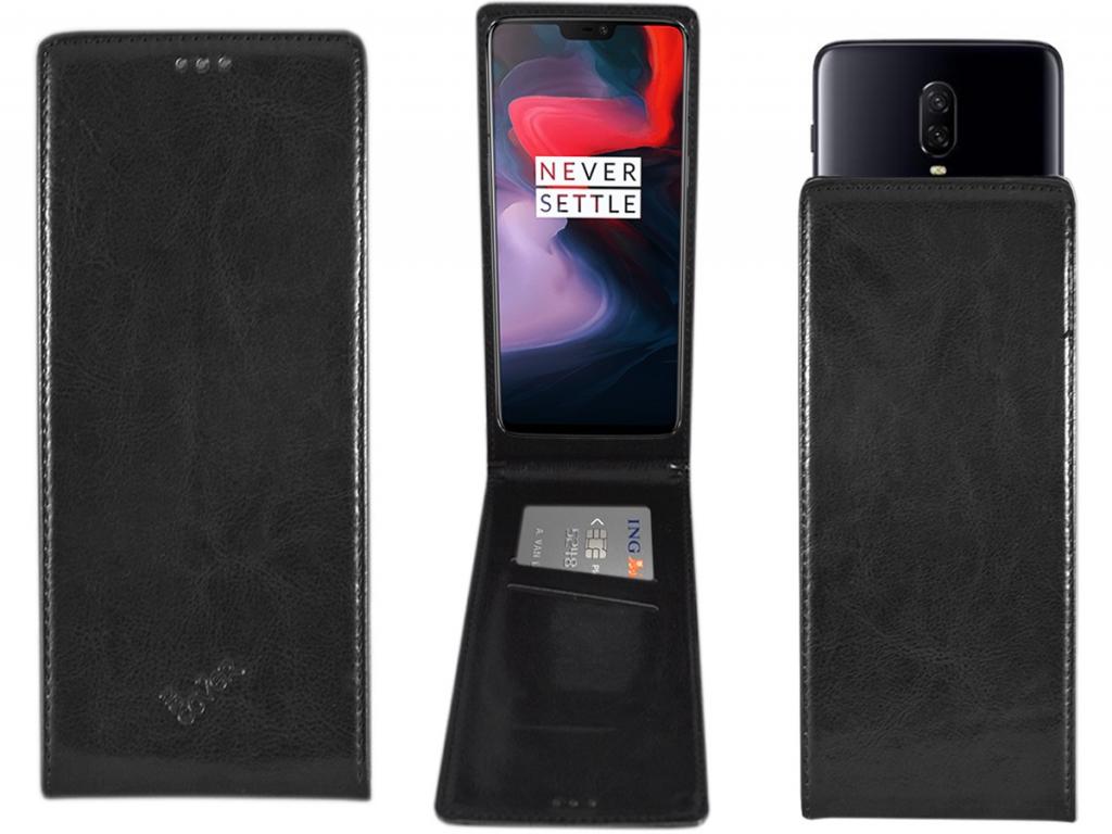 Smart Magnet luxe Flip case Amplicomms Powertel m9000 hoesje | zwart | Amplicomms