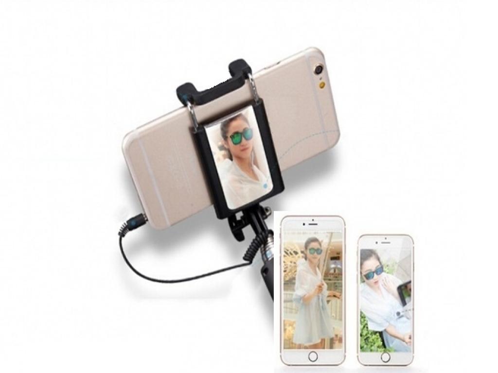 Motorola One macro Mini Selfie Stick met spiegel | zwart | Motorola