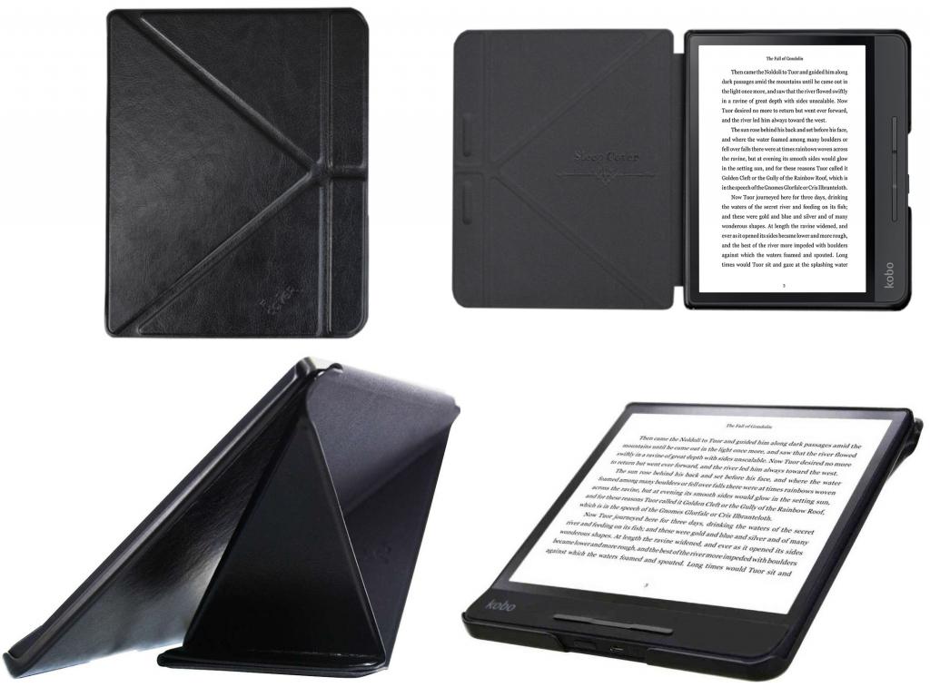 Sleepcover Luxe Hoes voor de Kobo Forma eReader met standaard | zwart | Kobo