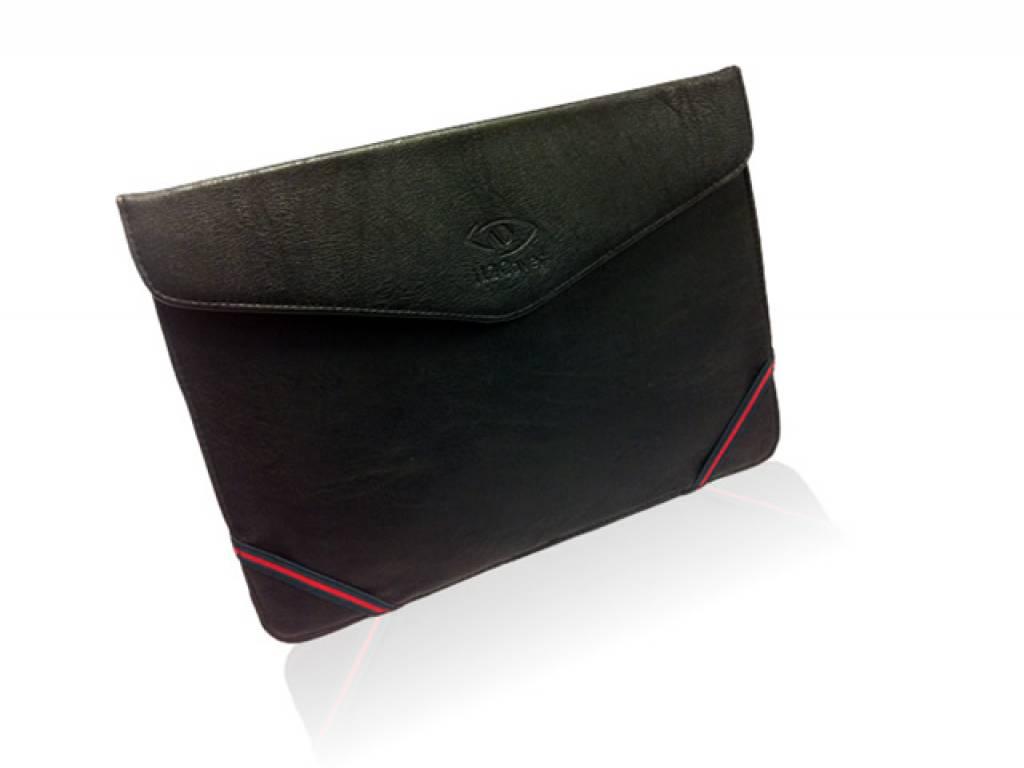 Leren Tablet Sleeve met Stand voor de Lenco Tab 9701   zwart   Lenco