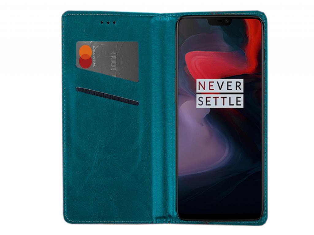 Smart Magnet luxe book case Amplicomms Powertel m8000 hoesje | blauw | Amplicomms
