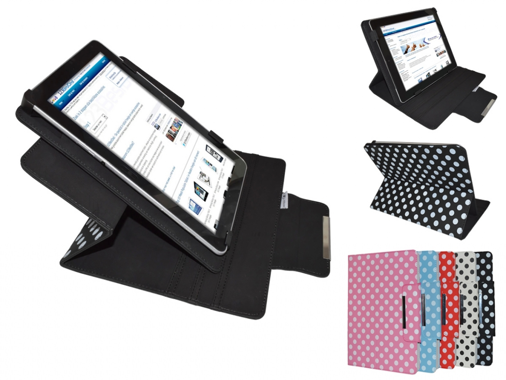 Prowise Android 4.2 Diamond Class Polkadot Hoes met 360 Multi-stand   wit   Prowise