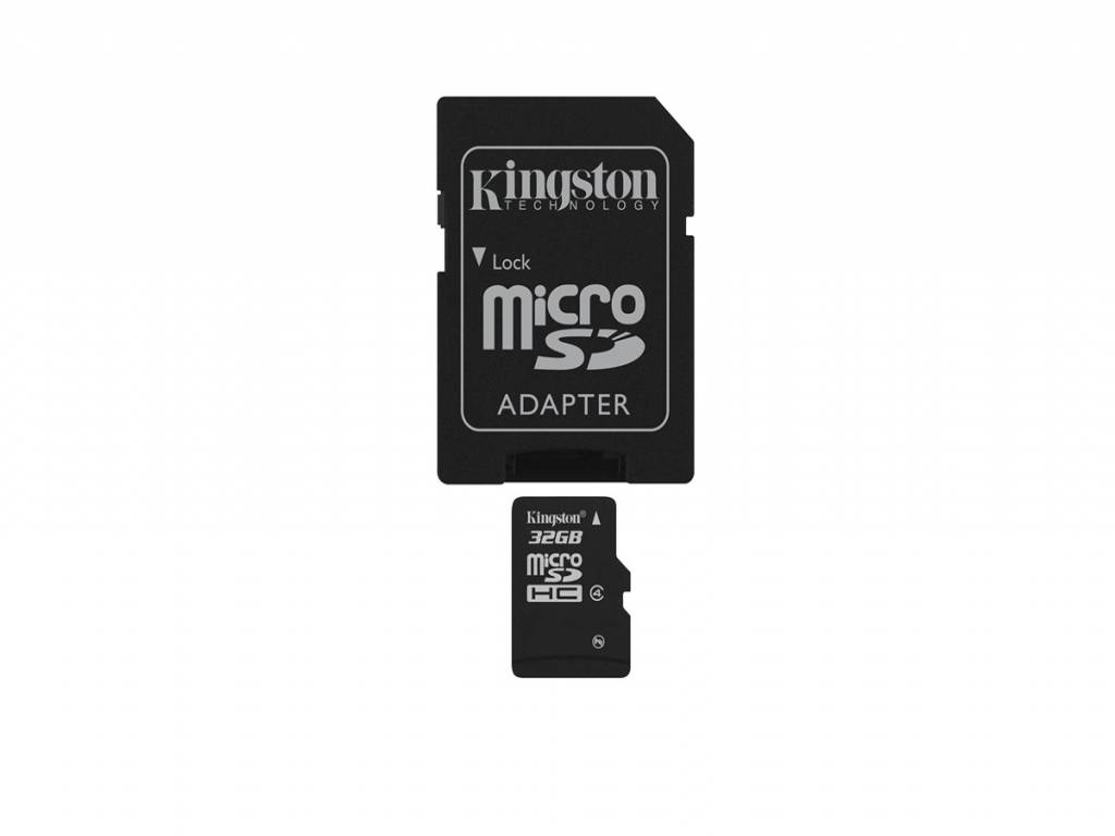 Geheugenkaart   32GB Micro SDHC Memory Card   Alcatel One touch pixi 7 3g   zwart   Alcatel