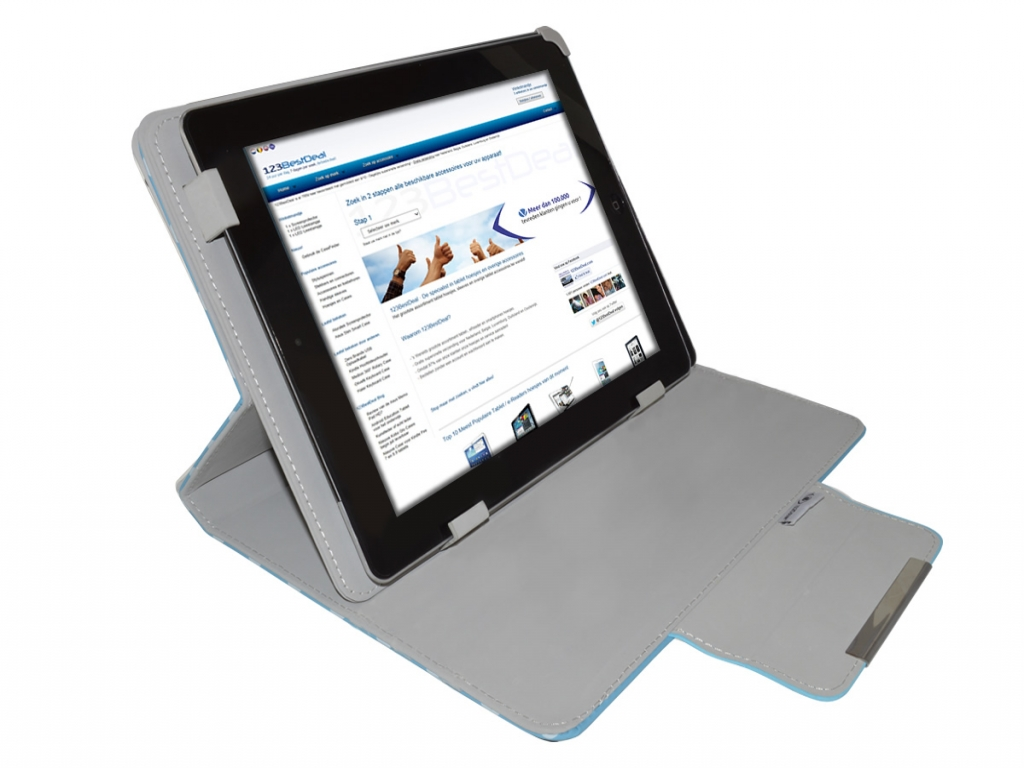 Nextbook Premium 10se Diamond Class Polkadot Hoes met Multi-stand   wit   Nextbook