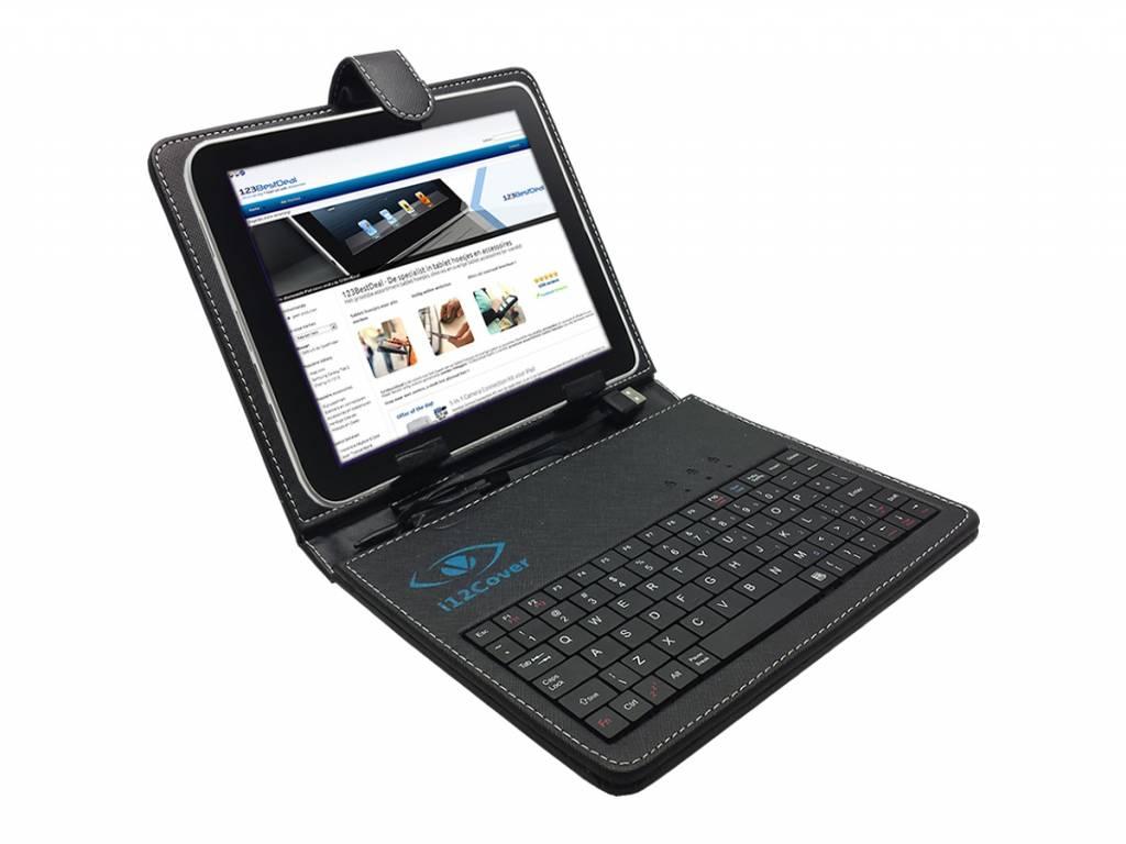 Keyboard Case   Geschikt voor de Difrnce Dit8020 Tablet   zwart   Difrnce