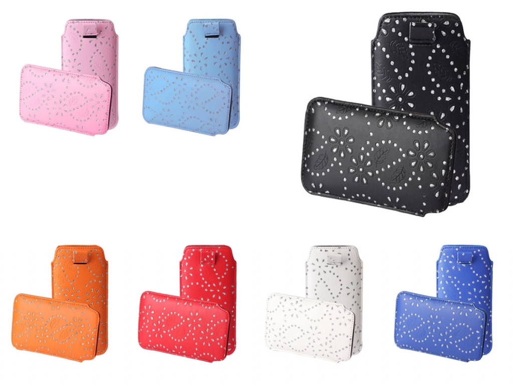 Bling Sleeve voor Point of view Mobii phone 5045    wit   Point of view