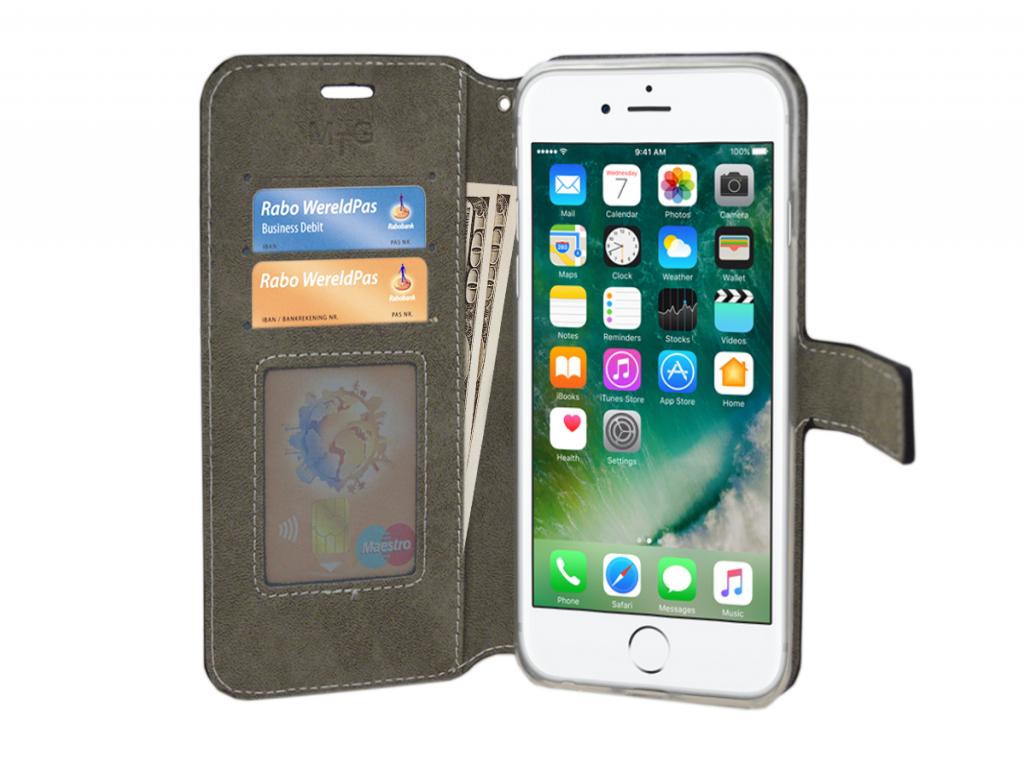 Apple Iphone 8 plus Iphone 8 plus luxe Wallet Case  | zwart | Apple