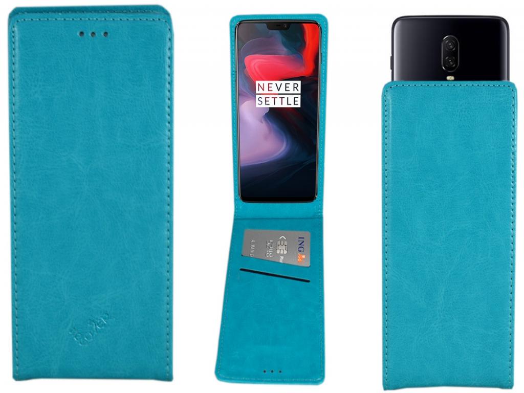 Smart Magnet luxe Flip case Amplicomms Powertel m6300 hoesje | blauw | Amplicomms