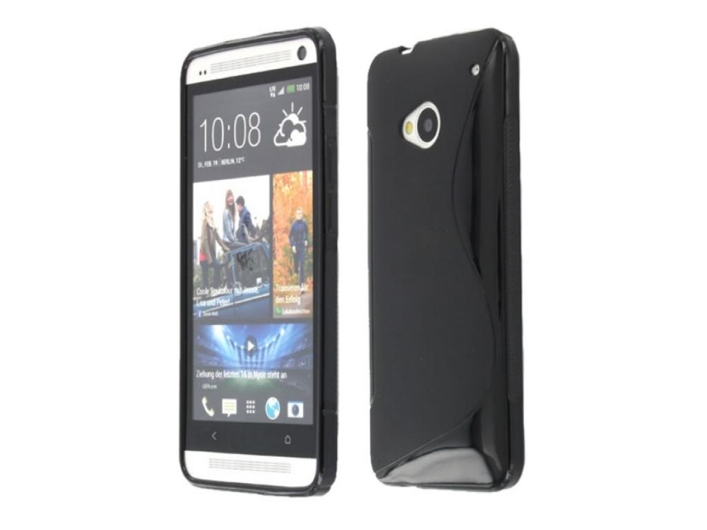 HTC One TPU Case S-Line    blauw   Htc