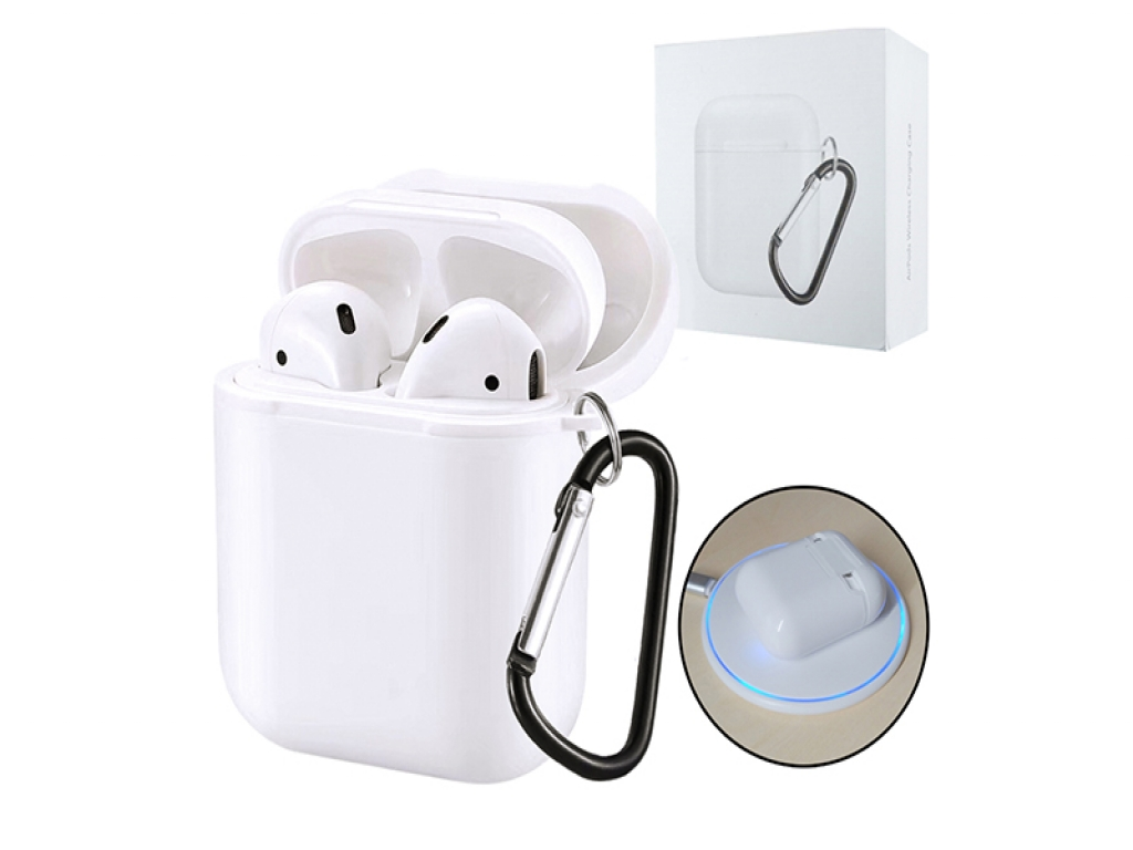 Draadloze Airpods oplader case / oplaadcase Qi opladen   wit   Apple