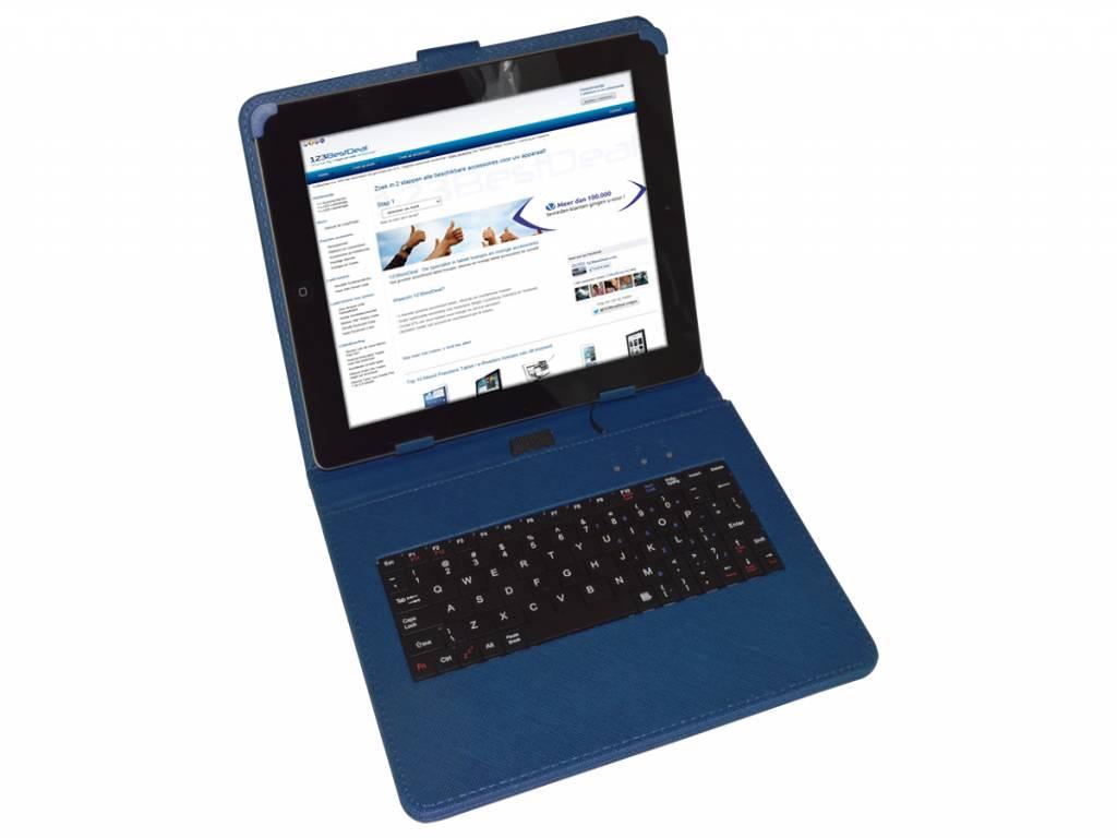Keyboard Case voor Easypix Easypad 970 satellite tablet  | blauw | Easypix