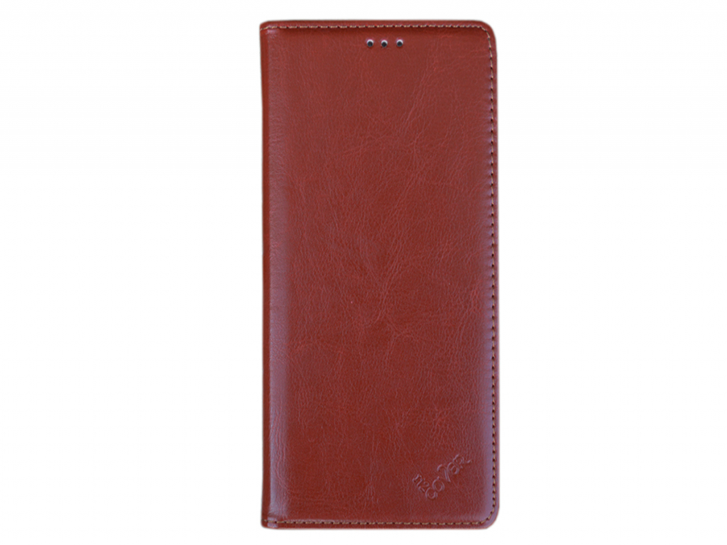Smart Magnet luxe book case General mobile Android one gm5 plus hoesje   bruin   General mobile