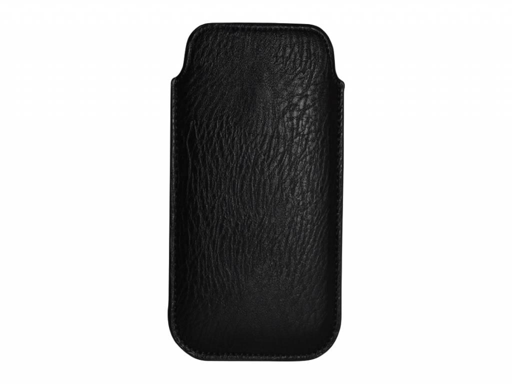 Htc One mini 2 hoesje · Luxe PU Leren Sleeve | zwart | Htc