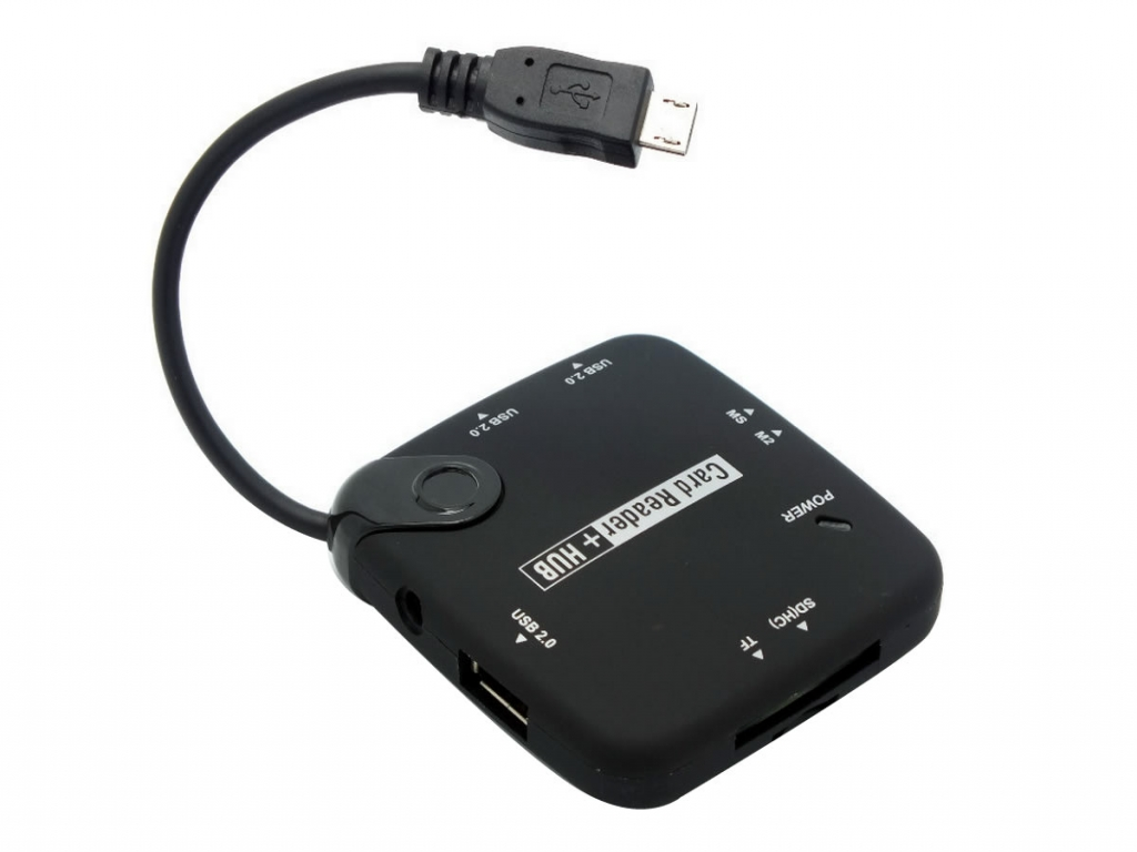 USB Hub en Card Reader  voor Nha tablet 9 inch | zwart | Nha tablet