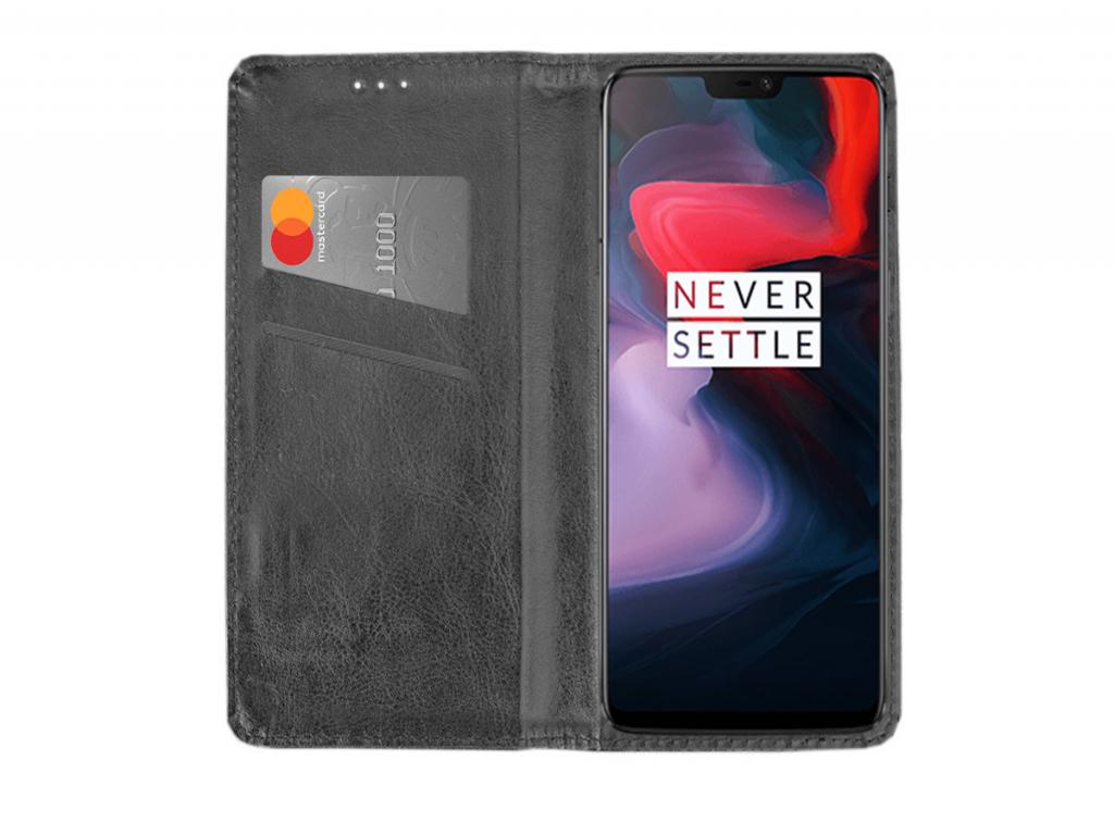 Smart Magnet luxe book case Alcatel One touch pop up hoesje | zwart | Alcatel
