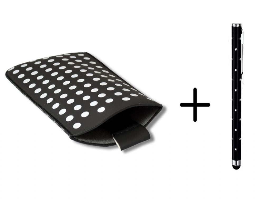 Polka Dot Hoesje   Blackberry Leap   Gratis Stylus   wit   Blackberry