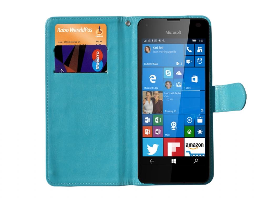 Luxe Book Wallet Case 3.8-4.3 inch met standaard  123Bes | blauw | Nokia