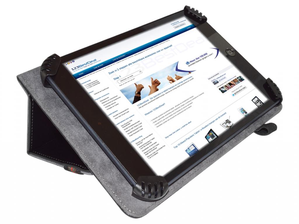 Universeel hoesje 2 fold voor Akai Kids tablet 7  | zwart | Akai