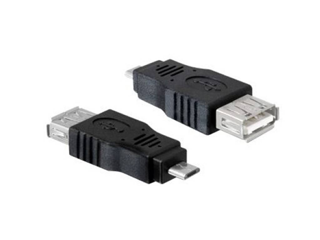USB Micro Verloopstekker Lg Optimus l5 2 dual | zwart | Lg