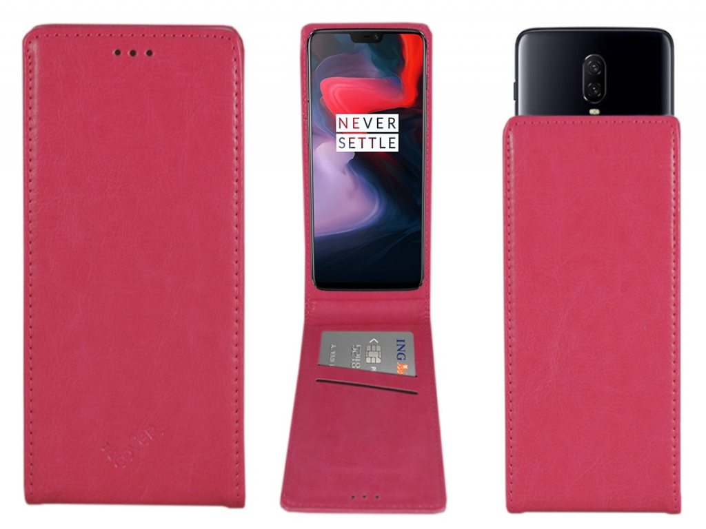 Smart Magnet luxe Flip case Alcatel One touch pop d3 hoesje   hot pink   Alcatel