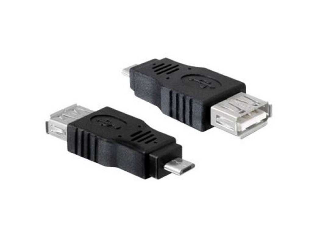 USB Micro Verloopstekker Azpen A1023 | zwart | Azpen