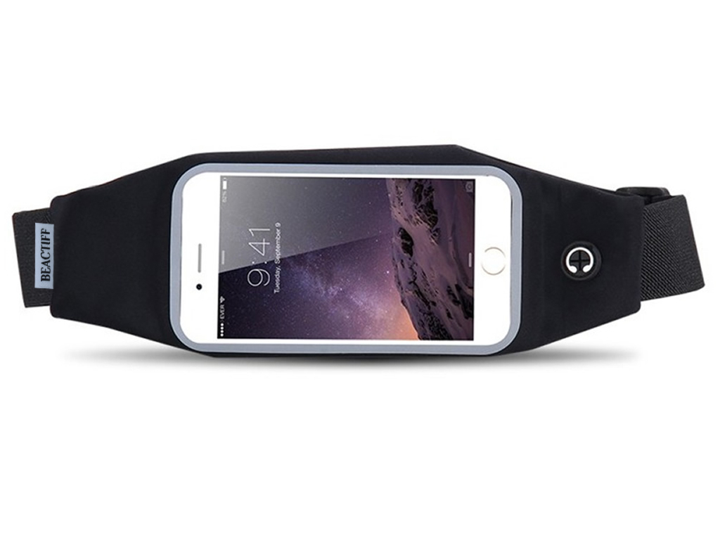 Sport heupband voor Sim Simphone 3    zwart   Sim