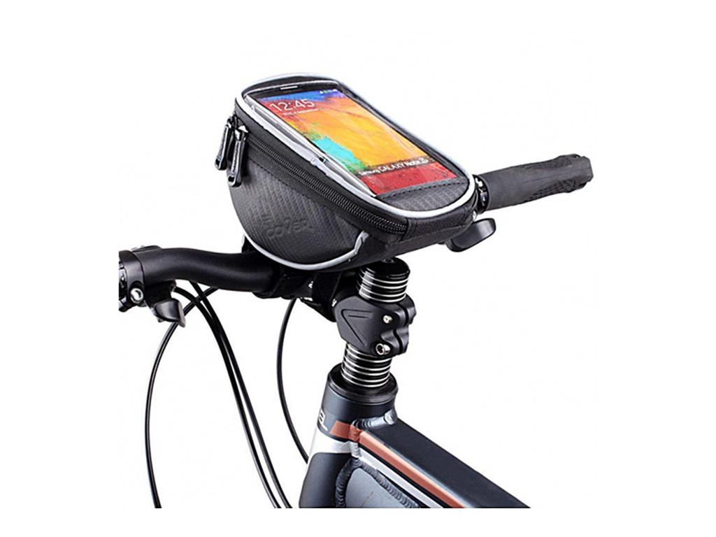 Htc One e9 plus Fiets stuurtas met Smartphone houder 1 Liter | zwart | Htc