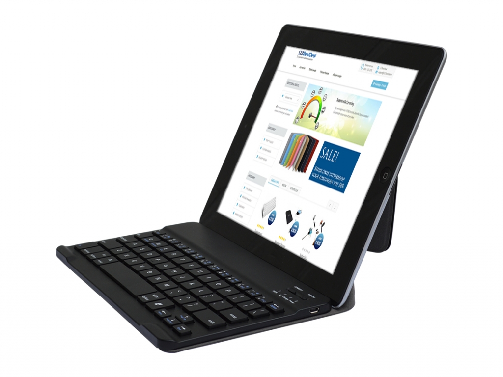Luxe Bluetooth keyboard voor Salora Tab9201  | zwart | Salora