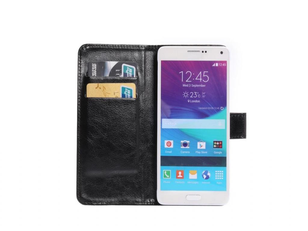 Luxe Book Wallet Case voor Alcatel One touch idol 2s   zwart   Alcatel