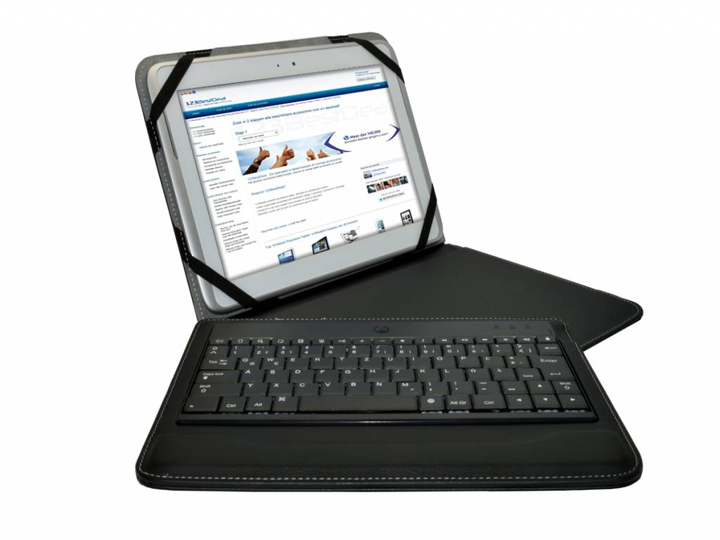 Denver Tad 10063 | Bluetooth Tastatur QWERTZ | Deutschen Layout | zwart | Denver