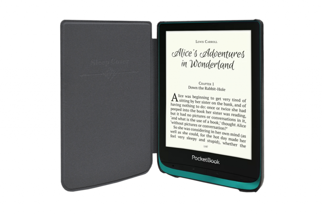 Pocketbook Touch lux 4 | e-Reader Hoesje | Luxe Sleep Cover | zwart | Pocketbook