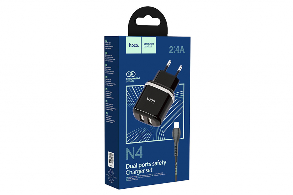Wileyfox Swift 2 USB lader van 2.4incl. USB-C kabel | zwart | Wileyfox