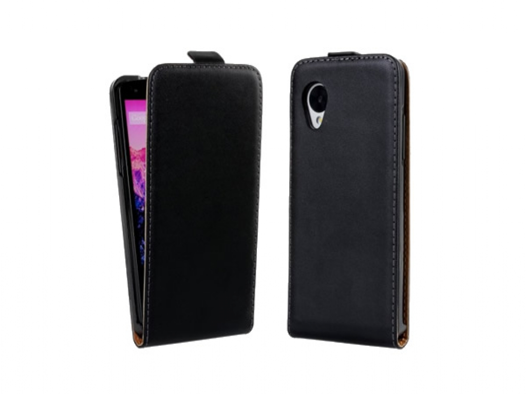 Lg Nexus 5 lederen Flip Case  | zwart | Lg