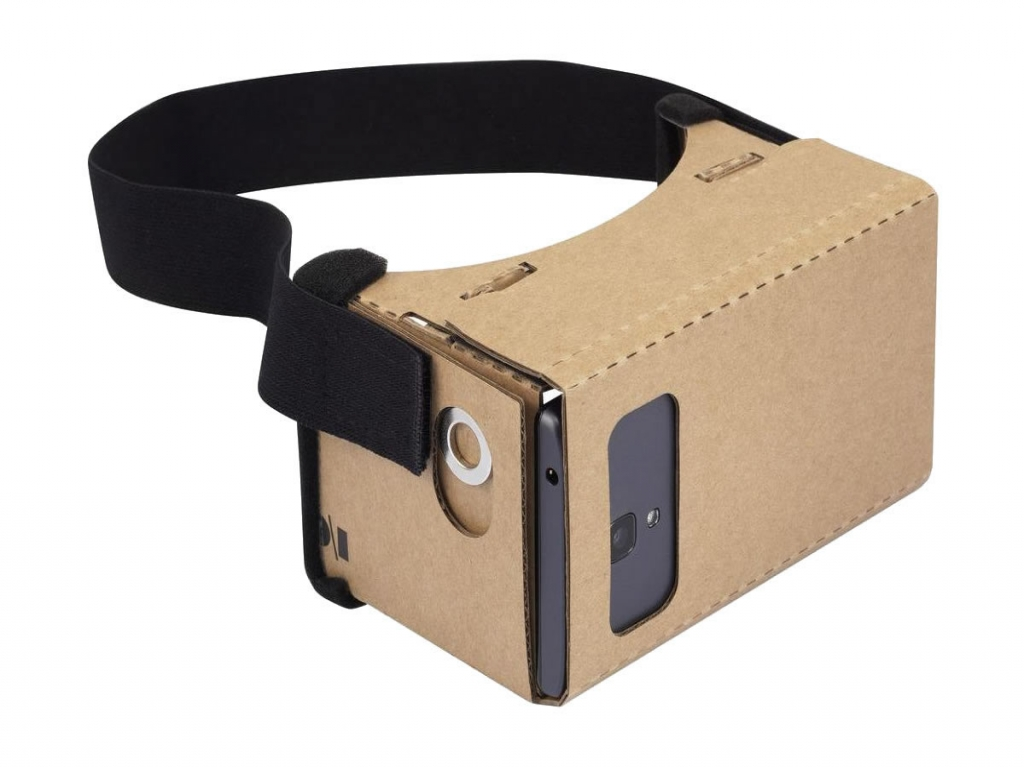 VR Google Cardboard Pro XL voor General mobile Gm 9 go  | bruin | General mobile