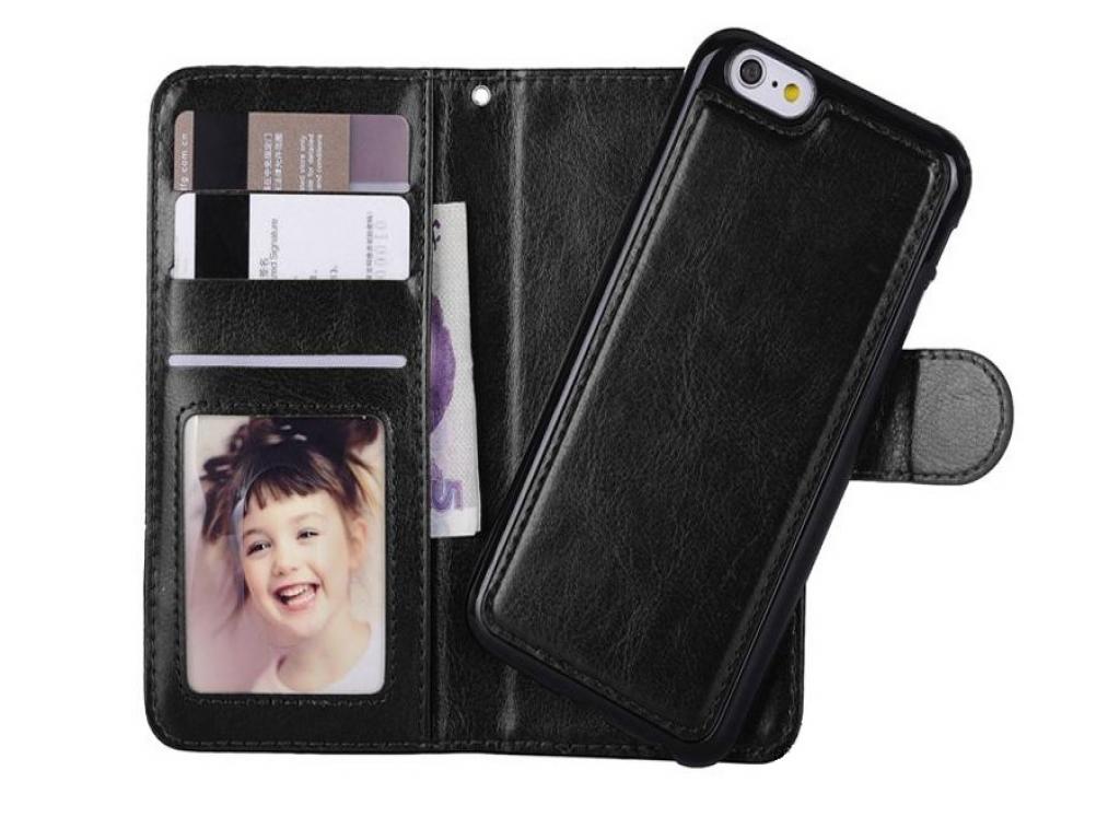 Iphone se Wallet Case Deluxe met uitneembare softcase | zwart | Apple