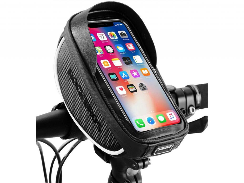 Archos 50c neon Fiets stuurtas met Smartphone houder 1 Liter   zwart   Archos