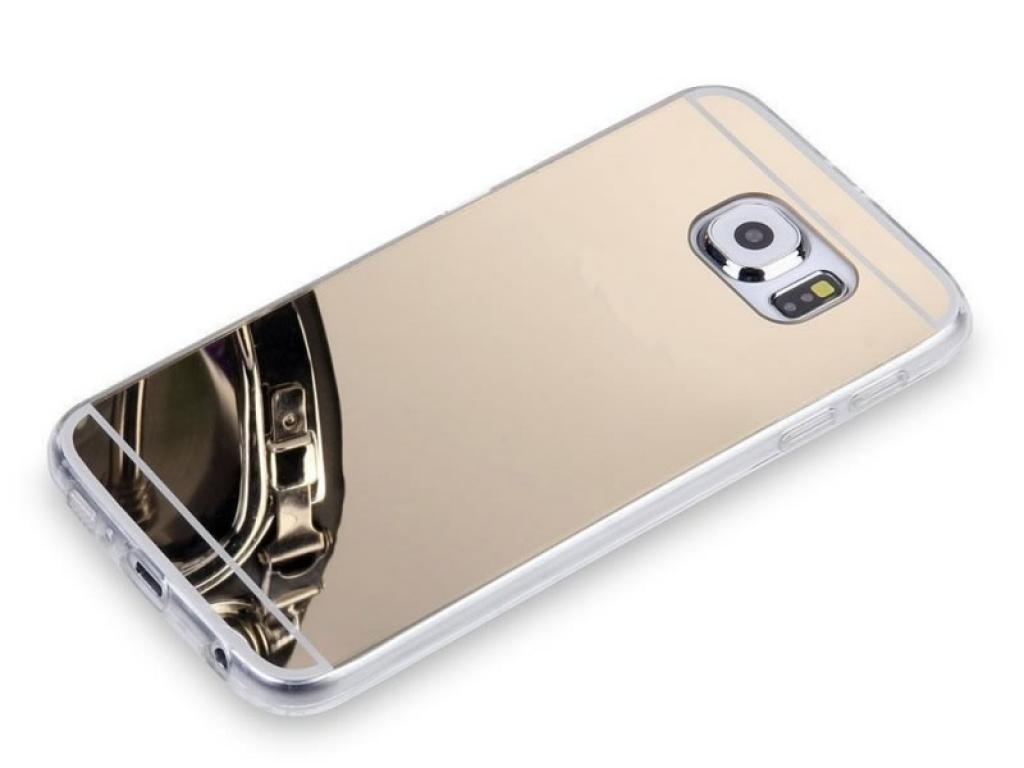 Flexibele Soft Case voor Samsung Galaxy s7 met spiegel kleur goud | goud | Samsung