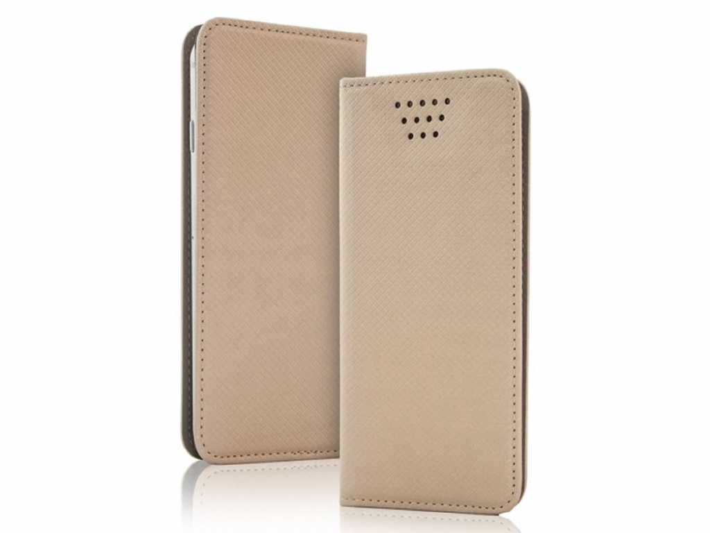 Smart Magnet luxe book case Alcatel One touch pixi 3 4 inch | goud | Alcatel