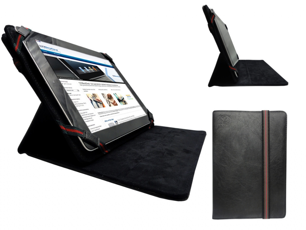 Lenco Tab 4 two 70 | Premium Hoes | Cover met 360 graden draaistand | zwart | Lenco