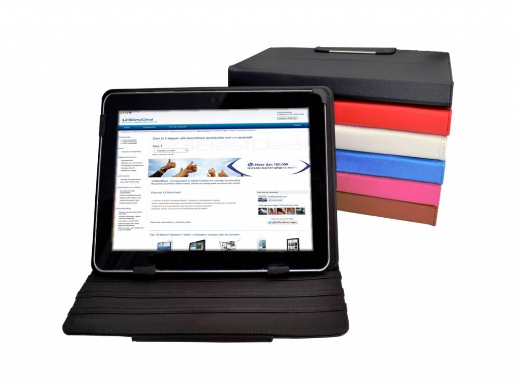 Diamond Class Hoes | Alcatel One touch tab 8 hd | 360 graden Draaibaar | wit | Alcatel