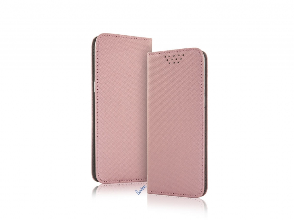 Smart Magnet luxe book case universeel 4,5-5,0 inch rose gold   rose goud   General mobile