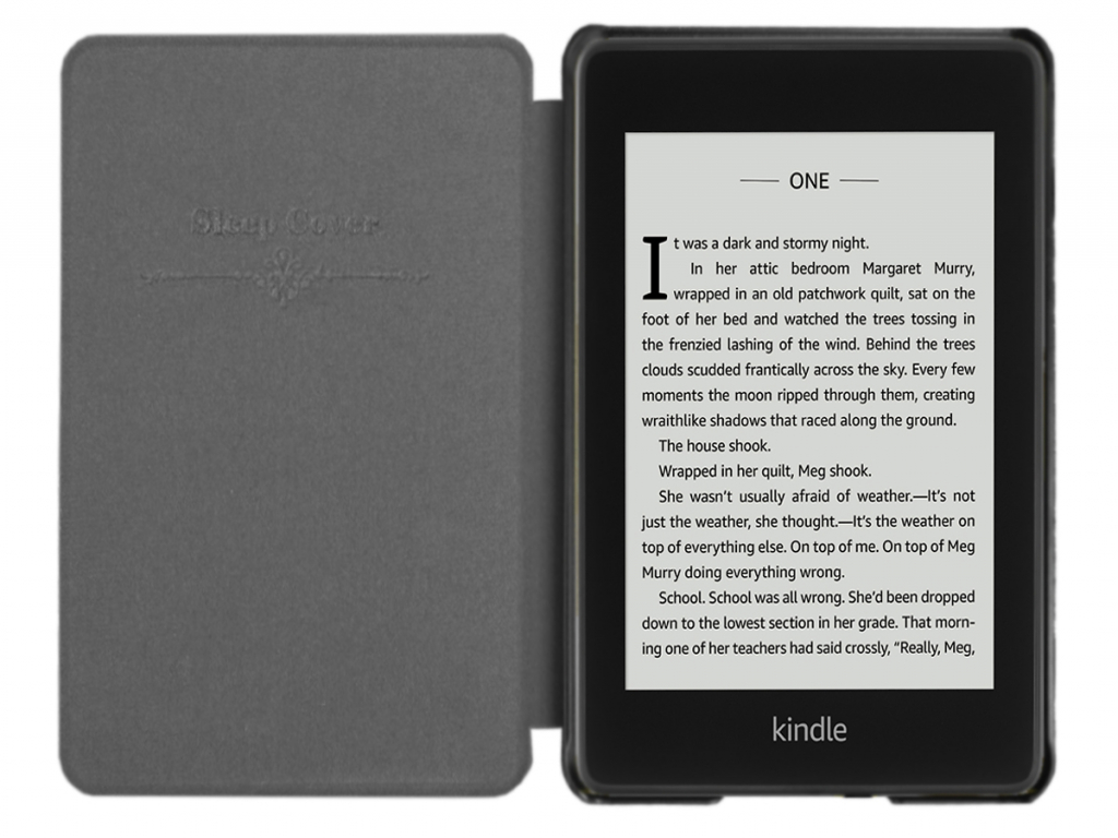 Kindle Paperwhite 4 e-Reader Shell Case | sleepcover | Zwart | zwart | Kindle