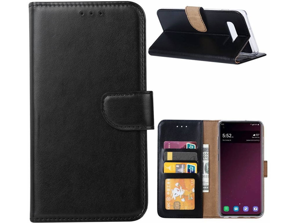 Samsung Galaxy s10 Luxe Wallet Case  | zwart | Samsung